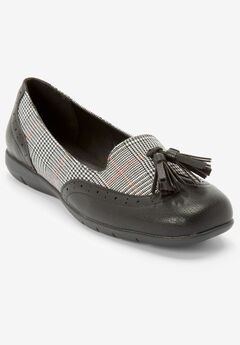 The Aster Flat by Comfortview®, BLACK PLAID