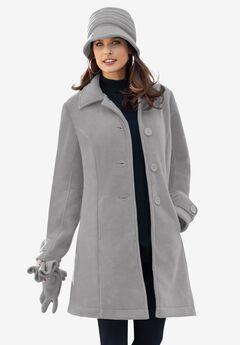 Plush Fleece Jacket, MEDIUM HEATHER GREY