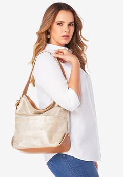 Metallic Hobo Handbag,