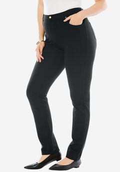 Ultimate Ponte 5-Pocket Pant, BLACK