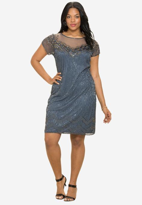 Sequin Midi Dress By Pisarro Nights Plus Size Dresses Roamans