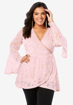 Wrap Lace Tunic,