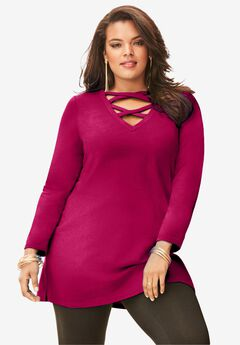 Crisscross Sweatshirt Tunic,