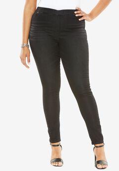 Knit Jean by Denim 24/7®, BLACK SANDED, hi-res