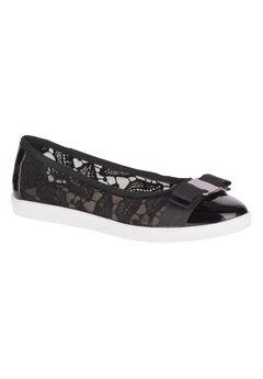Fagan Flats by Soft Style®, BLACK MESH PATENT, hi-res