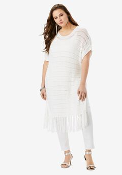 Crochet Fringe Sweater,