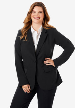 Fitted Blazer, BLACK