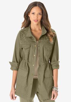 Lace Anorak Jacket,