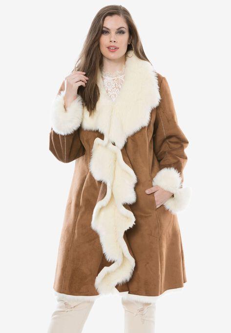 60a769a29c320 Cascade Faux-Suede Coat by Donna Salyers Fabulous Furs