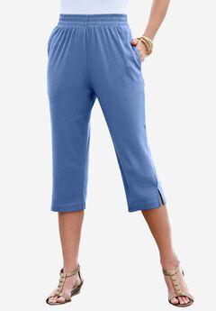 Soft Knit Capri, DARK BLUE, hi-res