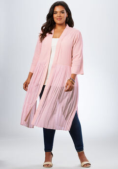 Pleated Duster Jacket,
