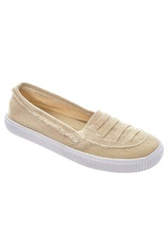 Analia Slip-Ons by Comfortview®, NATURAL