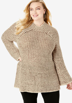 Tweed Mockneck Sweater,