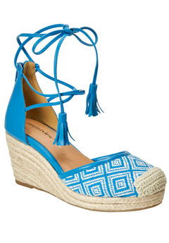 Ryann Espadrilles by Comfortview®, TURQUOISE NATURAL, hi-res