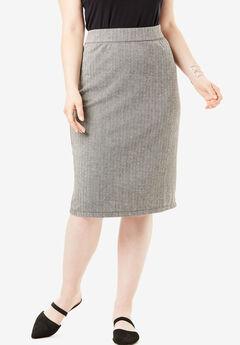 Ultimate Ponte Pencil Skirt, HERRINGBONE