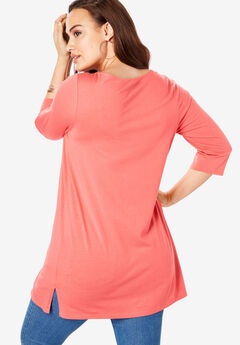 851f1583 Boatneck Ultimate Tunic with Side Slits