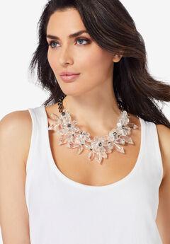 Floral Cluster Necklace,