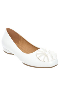 Rhea Ballet Flat by Comfortview, WHITE, hi-res