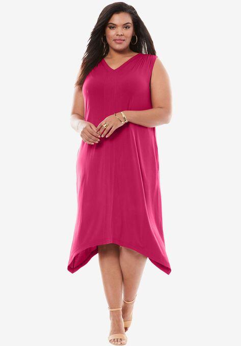 Everywhere Trapeze Dress Plus Size Dresses Roamans