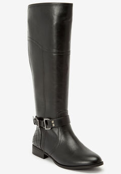 The Milani Wide Calf Boot by Comfortview®, BLACK