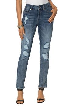 Distressed Jean by Denim 24/7®, MEDIUM WASH, hi-res