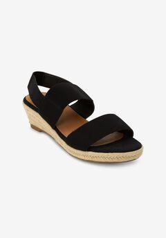The Wynn Sandal by Comfortview®, BLACK