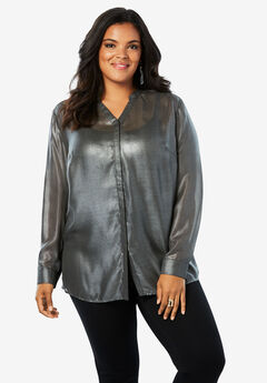 Sheer Crinkle Tunic,