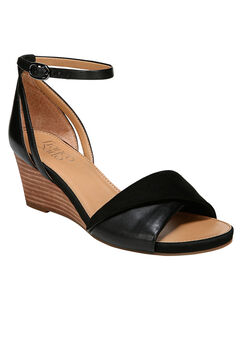 Deirdra Wedge Sandal by Franco Sarto, BLACK, hi-res