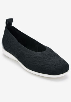 The Suzanne Flat by Comfortview®, BLACK