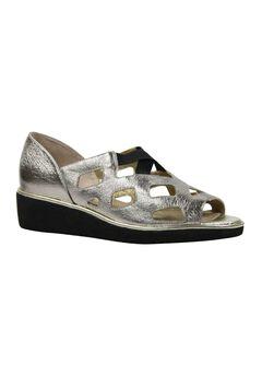 Valenteena Sandals by J. Renee®, TAUPE GOLD METALLIC, hi-res