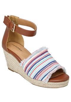 Journee Sandals by Comfortview®, BAJA STRIPE, hi-res