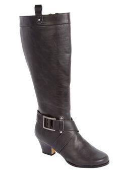Jali Regular Calf Boot by Comfortview®, BLACK, hi-res