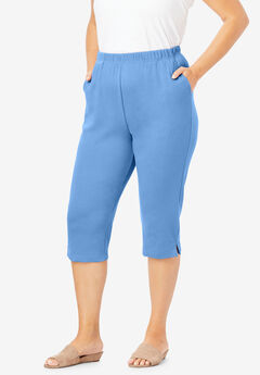 Soft Knit Capri Pant, HORIZON BLUE