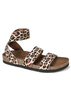 Harlequin Sandal by White Mountain, LEOPARD