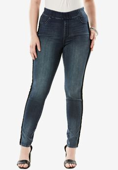The No-Gap Jegging by Denim 24/7®, VELVET STRIPE