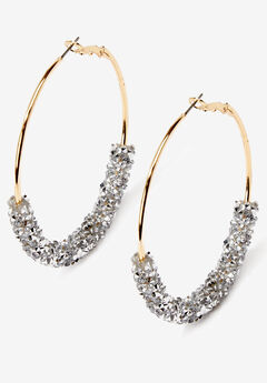 Glittery Hoop Earrings,
