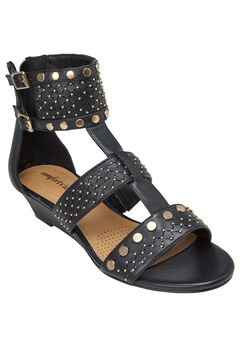Phoebe Sandals by Comfortview®, BLACK, hi-res