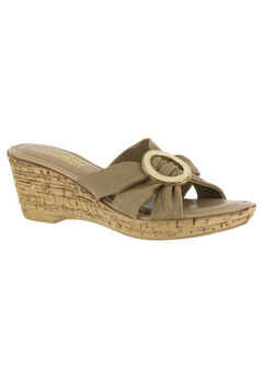Conca Sandals by Easy Street®, NATURAL, hi-res