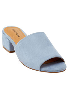 Basha Mules by Comfortview®, CHAMBRAY