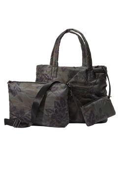 3-Piece Quilted Bag Set., MULTI PRINT, hi-res