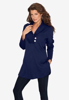 Thermal Shawl-Collar Tunic,