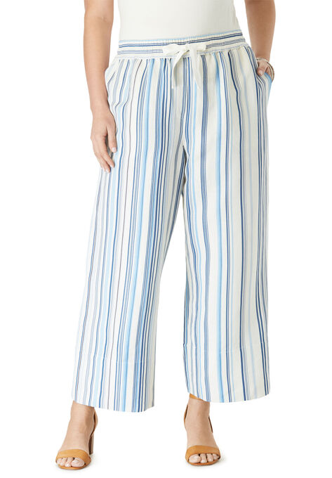Linen Wide-Leg Crop Pant