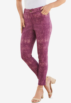 Skinny Jean with Invisible Stretch® by Denim 24/7®, BERRY ACID WASH