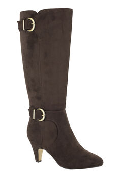 Toni II Wide Calf Boots by Bella Vita®, BROWN SUPER SUEDE