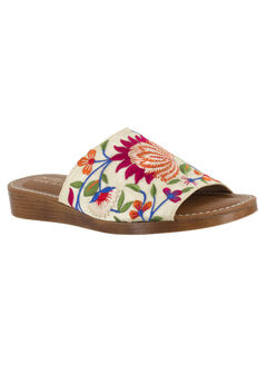 Abi-Italy Sandals by Bella Vita®, BEIGE SUEDE EMBROIDERY, hi-res