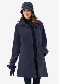 Plush Fleece Jacket, NAVY