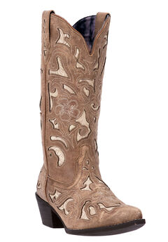 Sharona Wide Calf Boots by Laredo, TAN, hi-res