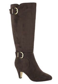 Toni II Regular Calf Boots by Bella Vita®, BROWN SUPER SUEDE