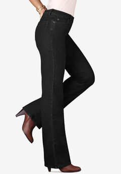 Bootcut Jean with Invisible Stretch® by Denim 24/7®, BLACK DENIM