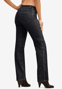 Straight-Leg Jean with Invisible Stretch® by Denim 24/7®, BLACK DENIM